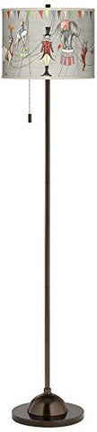 Circus Time Giclee Glow Bronze Club Floor Lamp - llightsdaddy - Giclee Glow - Lamp Shades