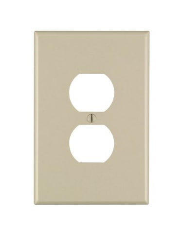 Leviton 86103 001-000 1 Duplex Receptacle Oversized Wall Plate, 1 Gang, 5-1/4 in L X 3-1/2 in W 0.255 in T, Ivory - llightsdaddy - Leviton - Lamp Post Mounts