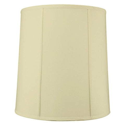 "14""x16""x17"" Tall Drum Lampshade Egg Shell Shantung, Cylinder Replacement Large Lamp Shade by Home Concept for Table Lamps - llightsdaddy - HomeConcept - Table Lamp"