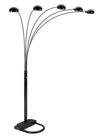 ORE International 6962BK 5 Arm Arch Floor Lamp, Black - llightsdaddy - ORE - Floor Lamps
