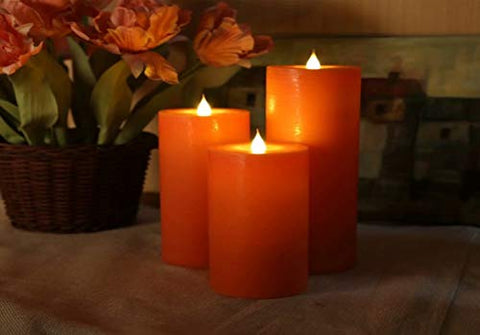 LED Electric Flameless Orange Candle Yellow Bright Bulb Moving Wick with 4 Or 8 Hours Timer Battery Operated Artificial Simulation for Holiday Seasonal Christmas Halloween Wedding Party Decor 1PCS - llightsdaddy - JIEQIJIAJU - Flameless Candles