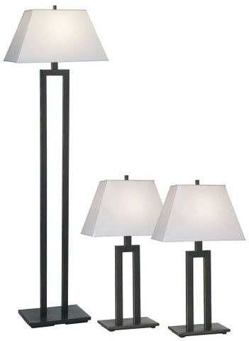 Contemporary Trio Table and Floor Lamp Set of 3 - llightsdaddy - Possini Euro Design - Outdoor Floor Lamps