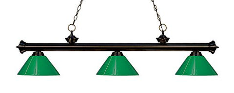 3 Light Billiard Light 200-3BRZ-PGR - llightsdaddy - Z-Lite - Billiard & Pool Table Lights