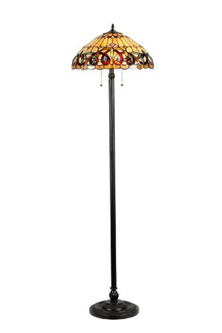 "Chloe Lighting CH33353VR18-FL2""Serenity"" Tiffany-Style Victorian 2 Light Floor Lamp 18"" Shade, 65.4"" x 18.1"" x 18.1"" - llightsdaddy - Chloe Lighting - Lamp Shades"