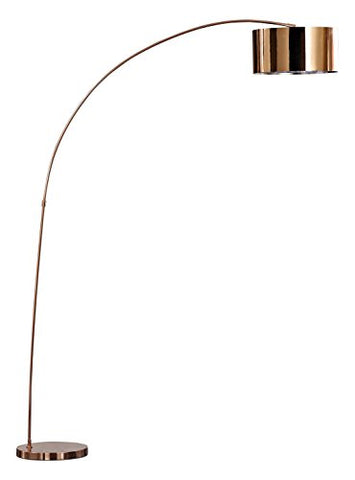 "Artiva USA LED3939RC Modern Adelina Modern Led Rose Copper Arched Floor Lamprose, 66"" x 16"" x 81"", Rose Copper - llightsdaddy - Artiva USA - Lamps"