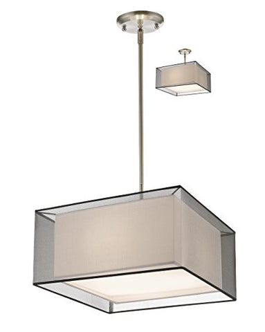 3 Light Convertible Pendant 193-18BK-C - llightsdaddy - Z-Lite - Pendant Lights
