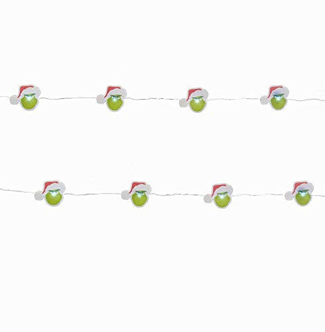 Dr. Seuss The Grinch Kurt Adler Christmas Holiday Led Fairy Lights Boxed (One Size, Green)
