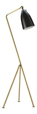 Grasshopper Floor Lamp - Black / Brass - llightsdaddy - Memoky - Lamp Shades