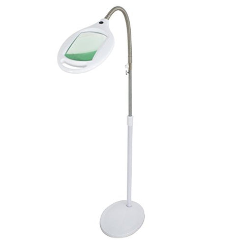 Super Deal PRO 42 LED Magnifying Magnifier Floor Lamp - Full Spectrum Magnifier Lighted Glass Lens - Height Adjustable Gooseneck - Adjustable Design Pivots in Any Direction - Energy Saving - llightsdaddy - SUPER DEAL - Lamp Shades