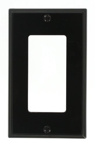 Leviton 80401-NE 1-Gang Decora/GFCI Device Wallplate, Standard Size, Thermoplastic Nylon, Device Mount, Black - llightsdaddy - Leviton - Lamp Post Mounts