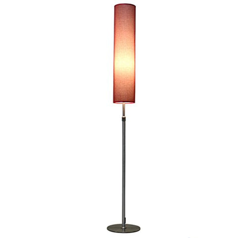 Vertical Floor Lamp, Remote Control LED Floor Lamp, Dimming Toning, Retractable High And Low, Cloth-art Lampshade, Multi-color Optional, Bedroom Bedside Lamp ( Color : Red-A ) - llightsdaddy - Cang teacher - Lamp Shades