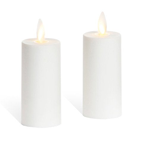 "Set of 2 Luminara Votive Flameless Candles:  1.75""x3"" Ivory Unscented Moving Flame Candles with Timer - llightsdaddy - Darice - Lamp Shades"