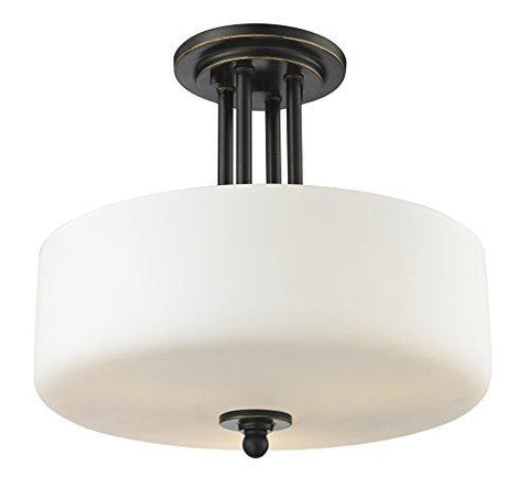 Z-Lite 414SF 3 Light Semi Flush Mount, Olde Bronze - llightsdaddy - Z-Lite - Under-Cabinet Lights