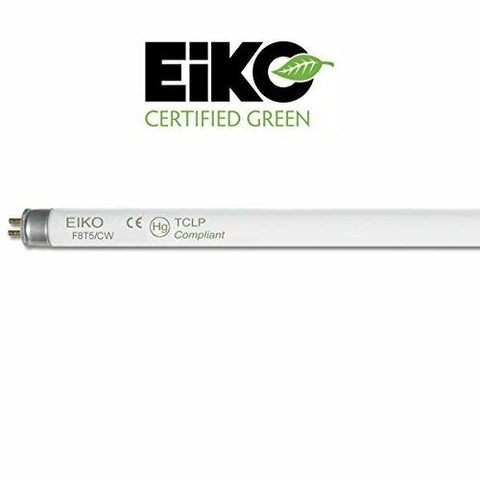 eiko f8t5/cw fluorescent bulb, 8w cool white 4100k, t-5 bulb, g5 base, bar code 15510
