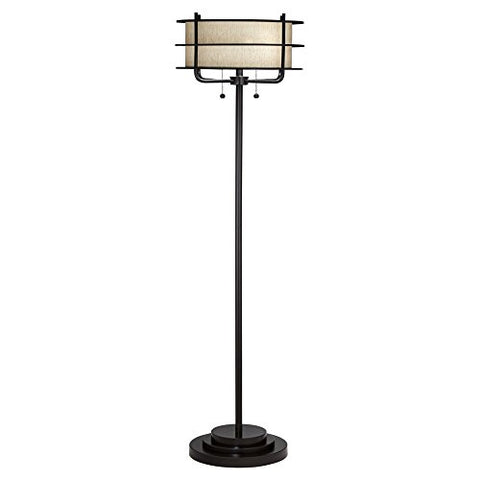 Kathy Ireland by Pacific Coast Ovation Floor Lamp in Bronze - llightsdaddy - Pacific Coast Lighting - Lamp Shades