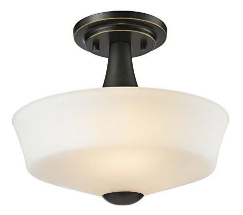 Z-Lite 411SF2 2 Light Semi Flush Mount, Coppery Bronze - llightsdaddy - Z-Lite - Under-Cabinet Lights