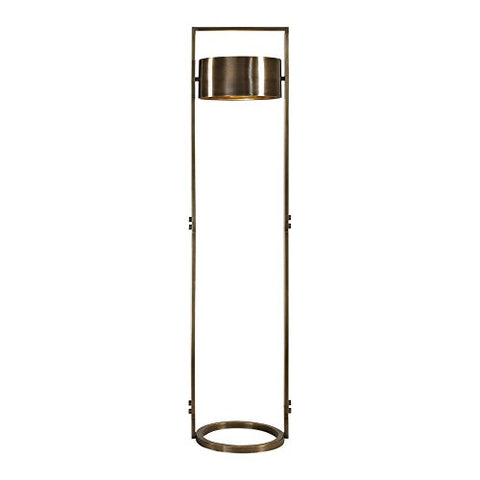 Uttermost Ilario Antique Brass Floor Lamp - llightsdaddy - Uttermost - Lamp Shades