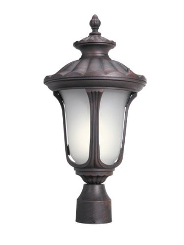 Woodbridge Lighting 61026WL-RTP Westbrook 1-Light Outdoor Post Mount, Powder Coat Rust - llightsdaddy - Woodbridge Lighting - Post Lights