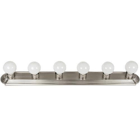 "Sunlite 45200-SU Bathroom Vanity Light Fixture 36"" Globe Style Wall Fixture 6 Lights Brushed Nickel Finish"