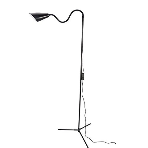 XianghuangTechnology LED Modern Floor Lamps with 2-Level Dimmable and 2 Color Mode 360°Rotatable Gooseneck Adjustable Height Reading lamp with Clamp and Tripod Base, Standing Lamp for Be (Black)  XianghuangTechnology Lamp Shades llightsdaddy.myshopify.com lightsdaddy