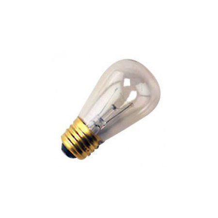 25 Qty. Halco 11W S14 CL 130V Halco S14CL11 11w 130v Incandescent Clear Lamp Bulb