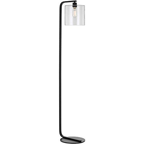 AF Lighting 9117-FL Lowell Lamp with Clear Glass Globe, Floor, Black - llightsdaddy - AF Lighting - Lamp Shades