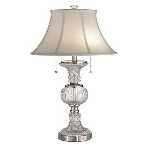 "Dale Tiffany GT60653 Granada Table Lamp, 17"" x 17"" x 27"", Brushed Nickel"