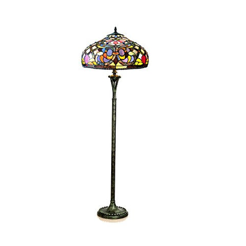 "Chloe Lighting CH11044PV20-FL3 Kelly Tiffany-Style Floor Lamp with 20"" Shade - llightsdaddy - Chloe Lighting - Lamp Shades"