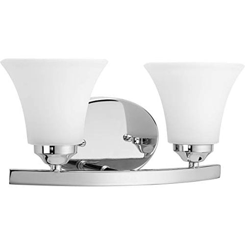 progress lighting p2009-15 med bath and vanity light, 2-100-watt