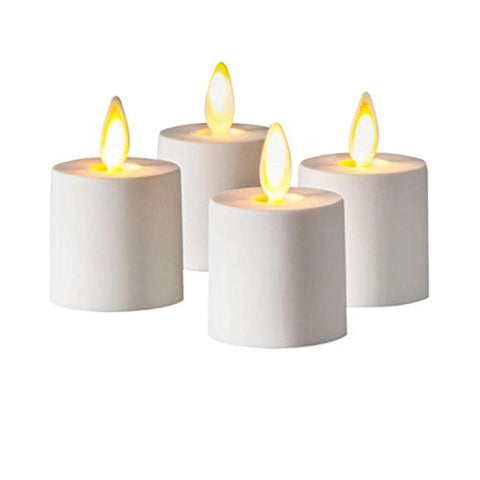 "Luminara 02530 - 1.25"" x 1.4"" White Remote Ready Battery Operated Plastic LED Flameless Tea Light (4 pack)"