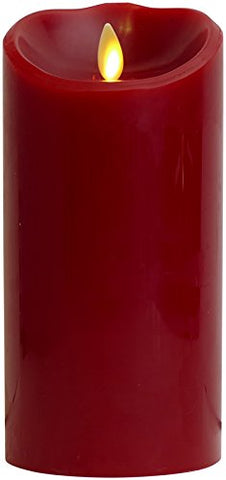 "Luminara Flameless Candle: Cinnamon Scented Moving Flame Candle with Timer (7"" Burgundy) - llightsdaddy - Luminara Worldwide - Flameless Candles"