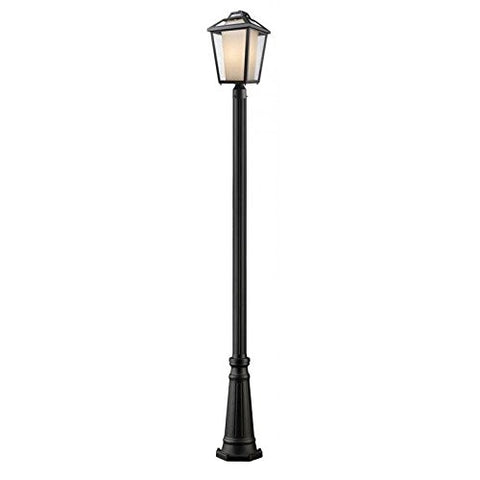 1 Light Outdoor Post Light 532PHBR-519P-BK - llightsdaddy - Z-Lite - Flush mounts