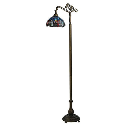 Tiffany Hanginghead Dragonfly Bridge Arm Floor Lamp - llightsdaddy - Meyda Tiffany - Lamp Shades