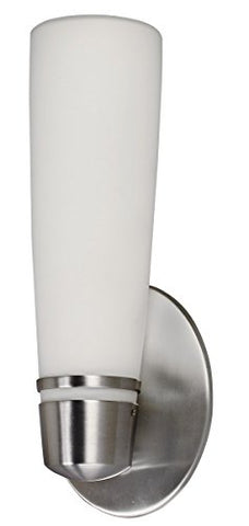 Lighting by AFX ARW118SNEC Aria 18-Watt Outdoor Sconce, Satin Nickel Finish with Opal White Glass - llightsdaddy - Lighting by AFX - Outdoor Porch & Patio Lights