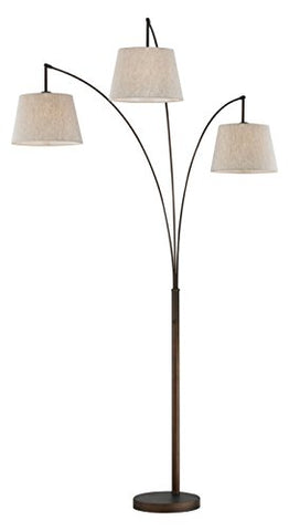 Artiva USA LED602109FBT Luce LED Arched Floor Lamp, 84 inches, Antique Bronze - llightsdaddy - Artiva USA - Lamp Shades