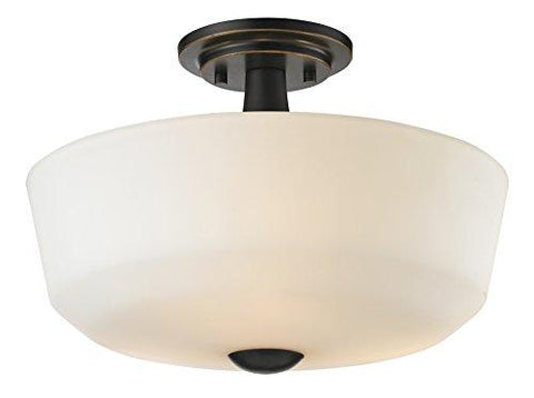 Z-Lite 411SF3 3 Light Semi Flush Mount, Medium, Coppery Bronze - llightsdaddy - Z-Lite - Ceiling Lights