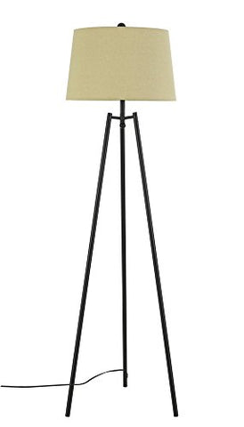 Cal BO-2789FL-DB Reggio - One Light Tripod Floor Lamp, Dark Bronze Finish with Metal Shade - llightsdaddy - Cal - Lamp Shades