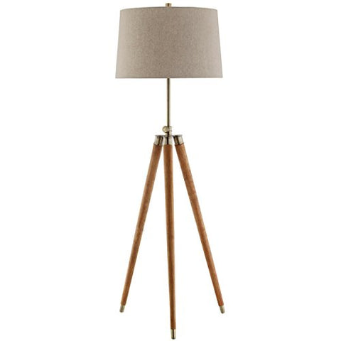 Stein World Furniture Dreyer Wood Floor Lamp - llightsdaddy - Stein World Furniture - Lamp Shades