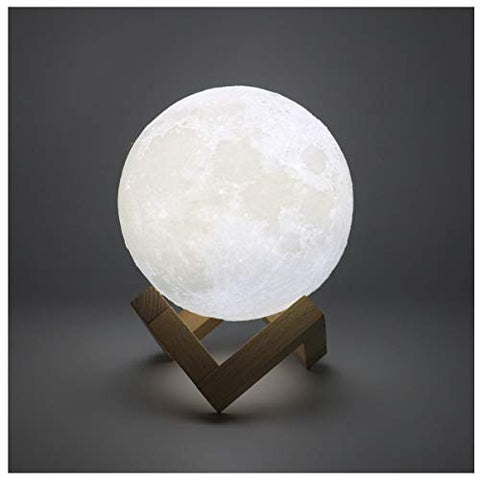 Hguangs Moon Lamp 16 Colors 5.1 Inch 3D Printed Moon Light Remote Touch Control And Usb Rechargeable Gifts For Christmas Birthday Valentine'S Day Party