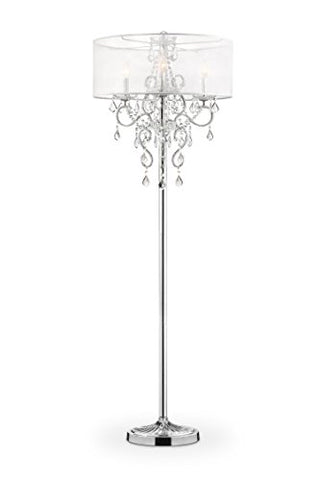 "OK Lighting OK-5153F Evangelia Floor Lamp, 63"" x 22"" x 22"" - llightsdaddy - OK Lighting - Lamp Shades"