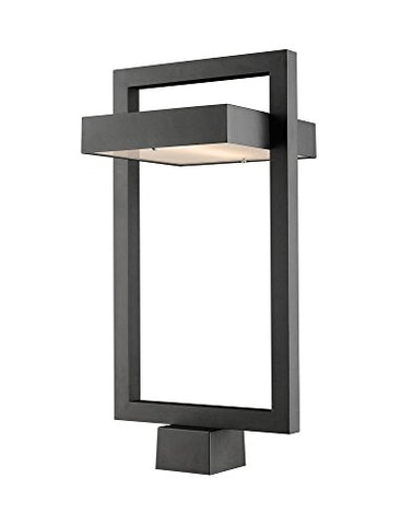 1 Light Outdoor Post Mount Fixture - 566PHBS-BK-LED