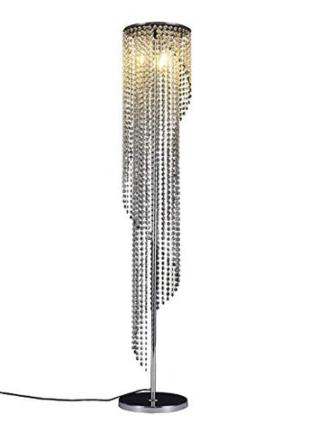 Surpars House Silver Crystal Floor Lamp S Shape Chrome Finish - llightsdaddy - Surpars House - Lamp Shades