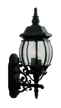 Livex Lighting 7524-04 Outdoor Wall Lantern with Clear Beveled Glass Shades, Black - llightsdaddy - Livex Lighting - Outdoor Porch & Patio Lights