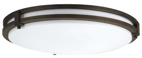Lithonia Lighting FMSATL 13 14830 BZA M4 LED Saturn Flushmount Ceiling Light Fixture for Kitchen | Hallway | Bedroom, Dimmable, 3000K, Antique Bronze