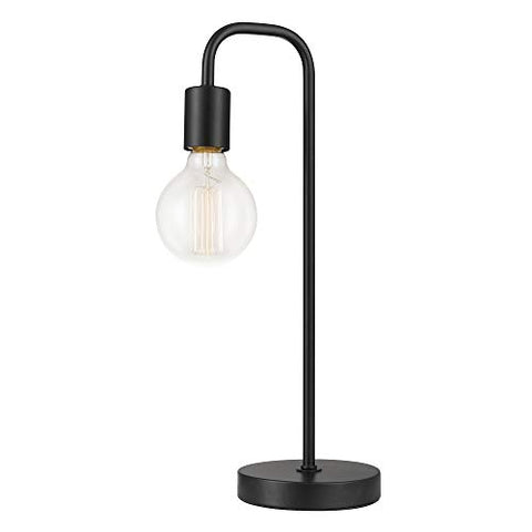 "Globe Electric Holden 18"", Black Finish 12920 Table Lamp, Satin"