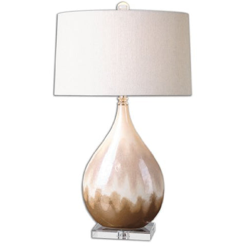 Flavian Glazed Ceramic Lamp Model-26171-1 - llightsdaddy - Uttermost - Lamps
