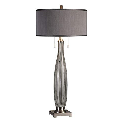 39 in. Contemporary Table Lamp in Gray