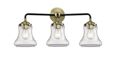 Innovations 284-3W-BAB-G192-LED Bellmont 3 Bath Vanity Light Part of The Nouveau Collection, Black Antique Brass