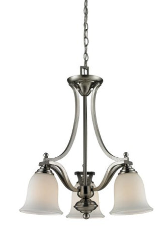3 Light Chandelier 704-3-BN - llightsdaddy - Z-Lite - Chandeliers