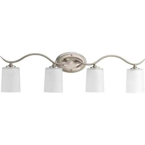 Progress Lighting P2021-09 Bath & Vanity, Brushed Nickel
